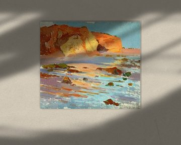 Felipe Abarzuza-Studie über die Landschaft, La Barrosa