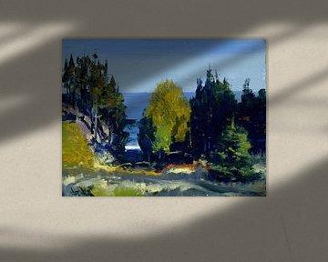 George Bellows-De Grove Monhegan