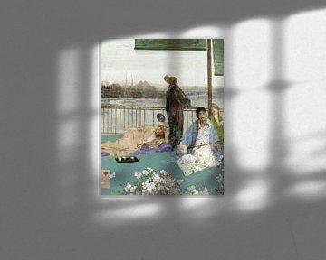 James Abbott McNeill Whistler Variationen in Fleischfarbe und Grün --Der Balkon