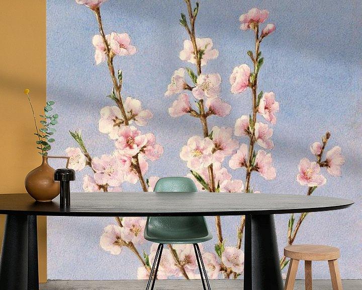 Beispiel fototapete: John William Hill-Persische Blumen