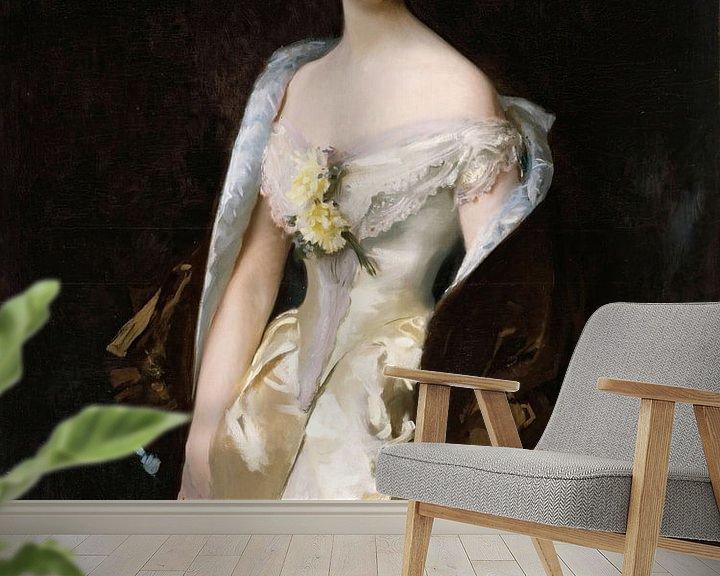 Beispiel fototapete: John Singer Sargent-Caroline von Bassano, Marquis d'Espeuilles.
