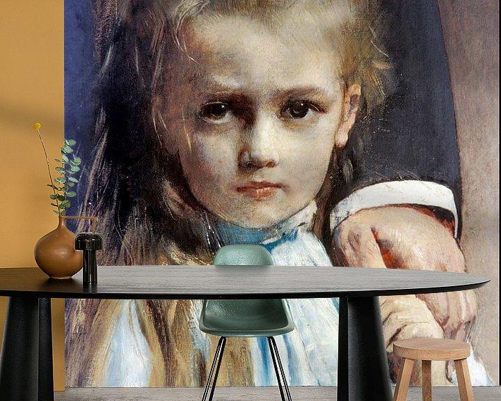 Beispiel fototapete: Léon Bonnat-Pasteur und seine Enkelin Camille Vallery-Radotot.