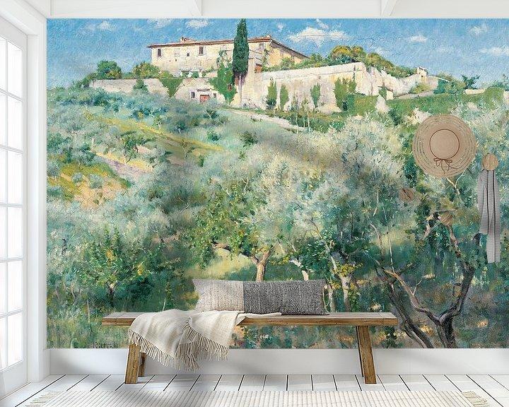 Beispiel fototapete: Louis Ritter-Villa Castellani, Bellosquardo, bei Florenz 1892