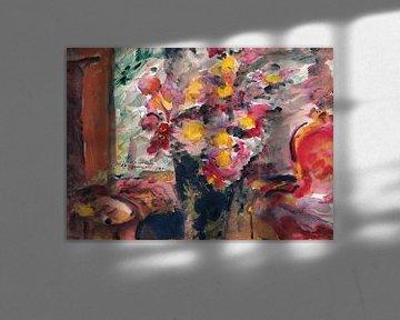 Lovis Korinth-Blumenvase auf einem Tisch, 1922
