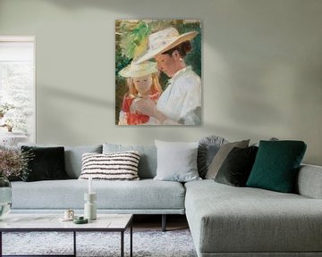 Michael Ancher-Anna und Helga im Garten
