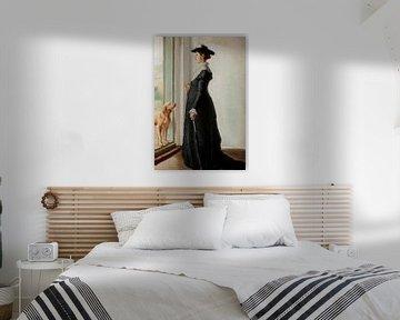 Michael Ancher-Anna Ancher steht in der Tür