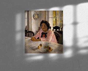 Valentin Serow-Mädchen mit Pfirsichen.Portrait der U.S.Mamontowa
