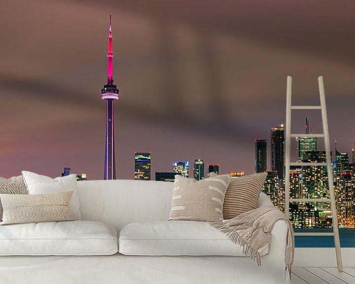 Sfeerimpressie behang: Toronto Skyline van Henk Meijer Photography