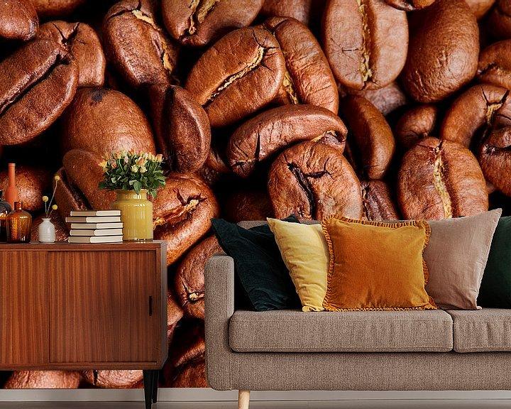 Sfeerimpressie behang: koffiebonen van Graham Forrester