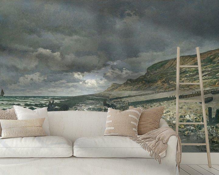 Beispiel fototapete: La Pointe de la Hève bei Ebbe, Claude Monet