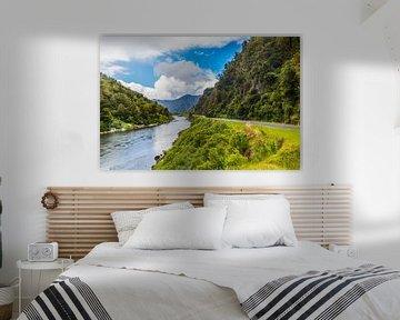 Fluss und Berge Neuseeland von Ivo de Rooij