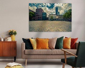 Der Wilheminaplein (Zaailand) Leeuwarden von Geert Jan Kroon