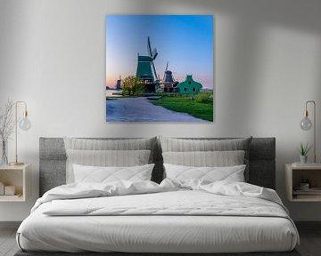 Les moulins à vent néerlandais des Zaanse Schans sur Jeffrey Steenbergen