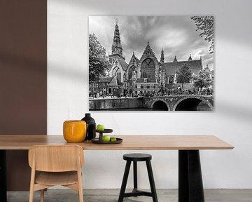 Die alte Kirche in Amsterdam von Ivo de Rooij