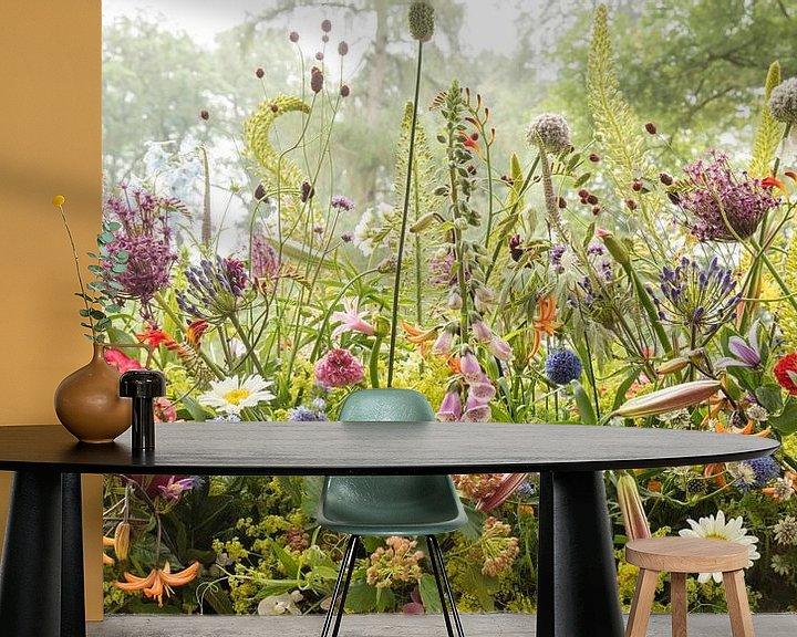 Beispiel fototapete: Blumenarbeit im Park von Paul Heijmink