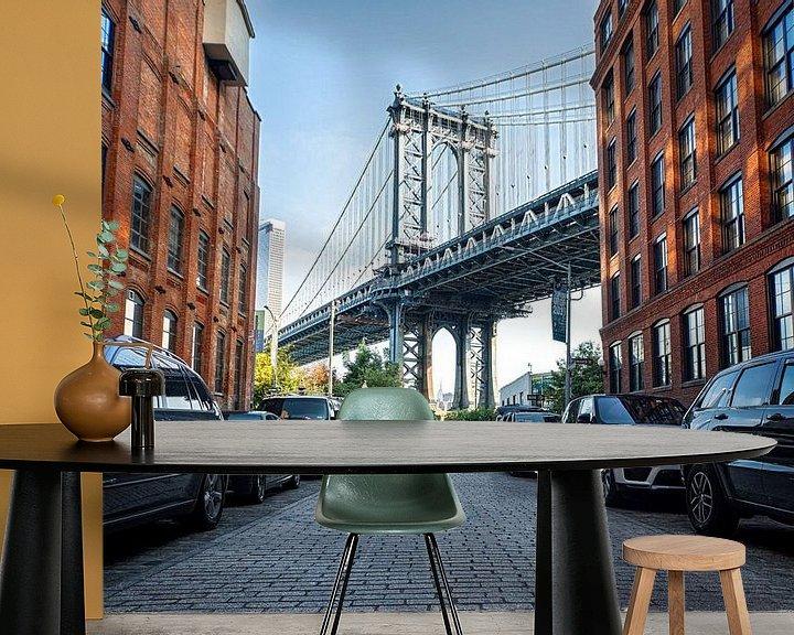 Sfeerimpressie behang: Dumbo New York van Vivo Fotografie