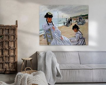 Am Strand von Trouville, Claude Monet