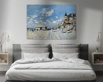 Die Strandpromenade am Strand von Trouville, Claude Monet