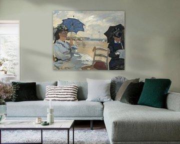 Der Strand von Trouville, Claude Monet