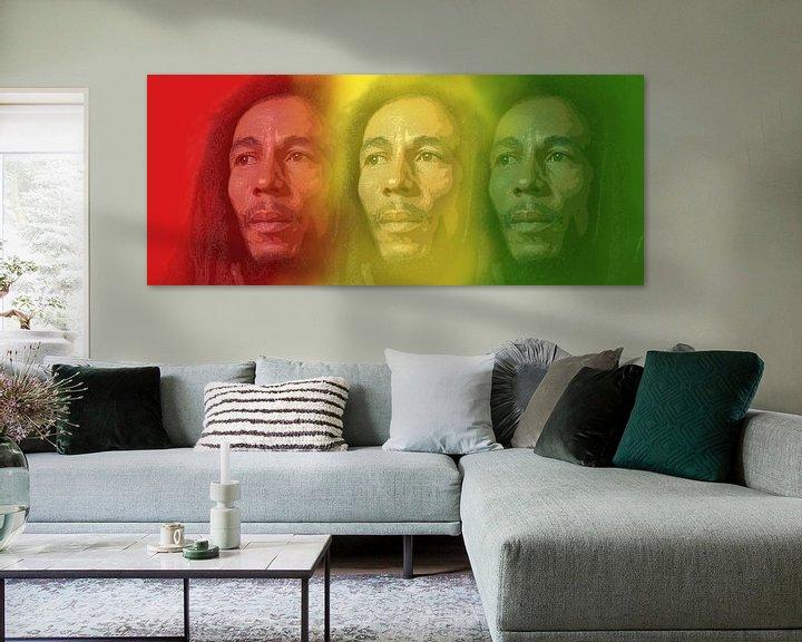 Beispiel: Bob Marley, König des Reggae. von Gert Hilbink