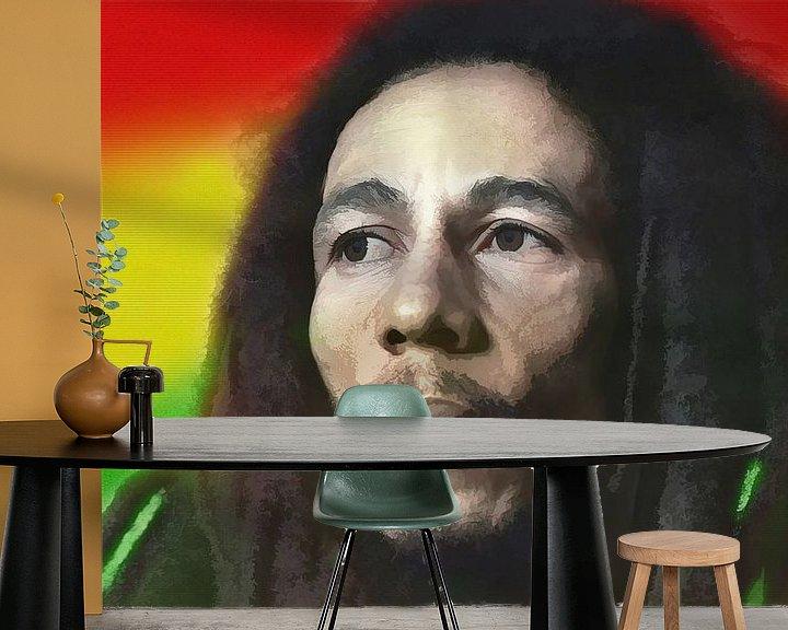 Beispiel fototapete: Bob Marley, König des Reggae. von Gert Hilbink