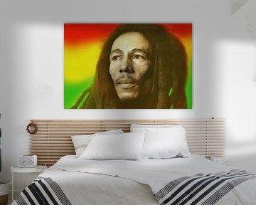 Bob Marley, King of Reggae. van Gert Hilbink
