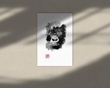 gorillagezicht van Péchane Sumie