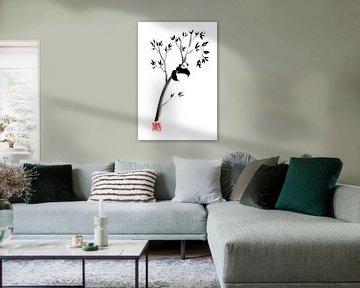 panda in zijn boom 2 van Péchane Sumie