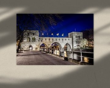 Die abgerissene Pont des Trous in Tournai (Tournai) von Studio Kunsthart