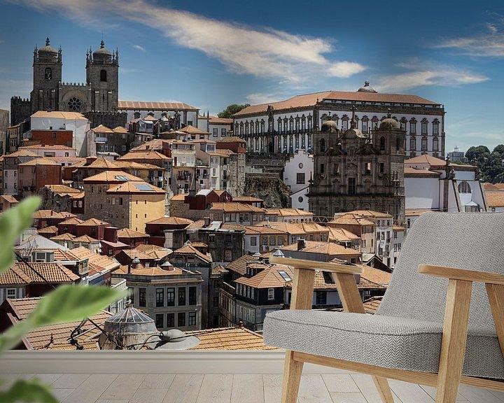 Sfeerimpressie behang: Daken van Porto III van Eddie Meijer