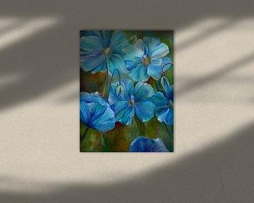 blauer Mohn ( Malerei) blauer Mohn von Els Fonteine