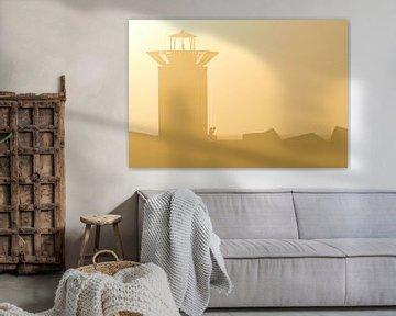 Gouden zonsondergang Scheveningen van Remco Swiers