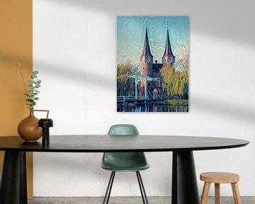 Modern Schilderij Oostpoort Delft