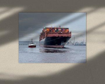 Container schip van Karin vd Waal