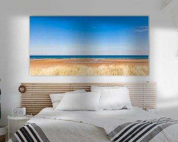 Strand bij Brora in Schotland van Werner Dieterich