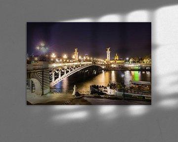 Pont Alexandre III in Paris bei Nacht von Werner Dieterich