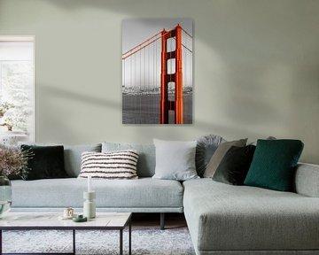 SAN FRANCISCO Golden Gate Bridge | colorkey van Melanie Viola