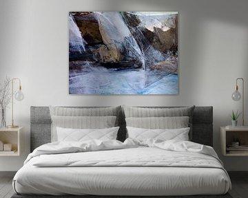 Abstrakte Collage aus Meer, Sturm und Felsen von Paul