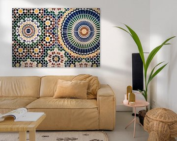 Mozaik Tegel Muur in Marokko van Patrycja Polechonska
