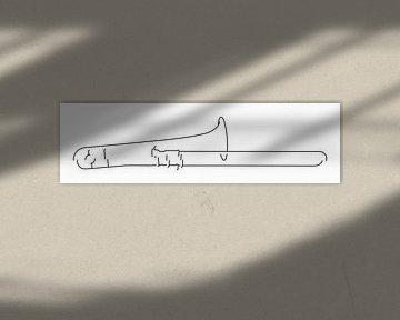 Silhouette d'un trombone sur Drawn by Johan