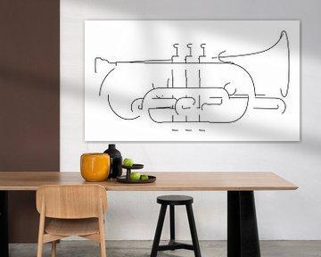 Silhouette du cornet sur Drawn by Johan