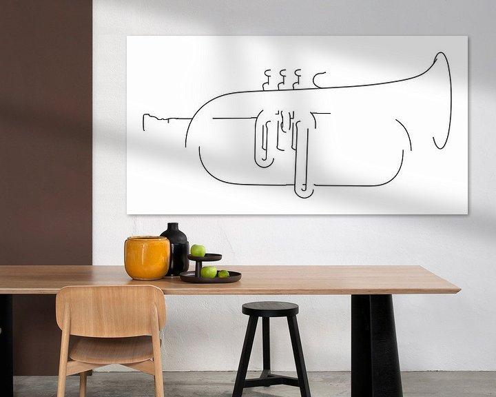 Impression: Silhouette du Bugle sur Drawn by Johan