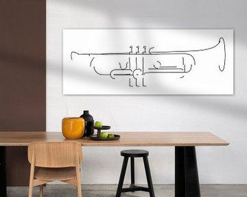 Silhouette de trompette sur Drawn by Johan