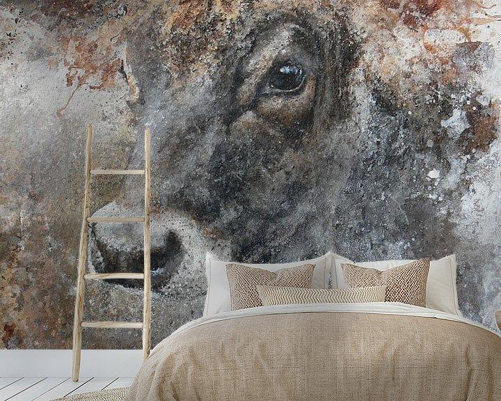 Beispiel fototapete: Jersey-Kuh von Peter van Loenhout