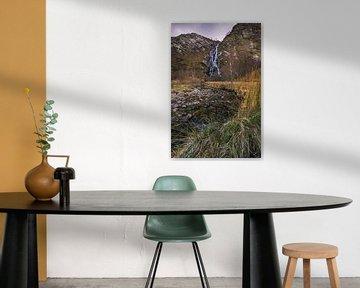 Steal waterval, Ben Nevis in Schotland van Bob Slagter