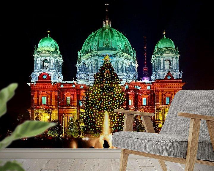 Sfeerimpressie behang: De Berlijnse Dom in een bijzonder licht van Frank Herrmann