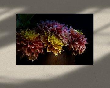 Blumenstrauß Dahlien von Clazien Boot