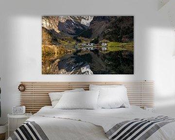 Fjordreflexionen, Norwegen von Adelheid Smitt