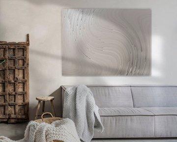 Abstrakte grau-weiße Wirbel von Maurice Dawson