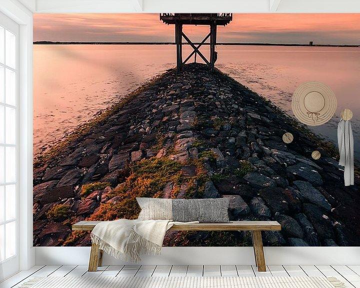 Sfeerimpressie behang: Krabbendijke uitkijkpost van Björn van den Berg